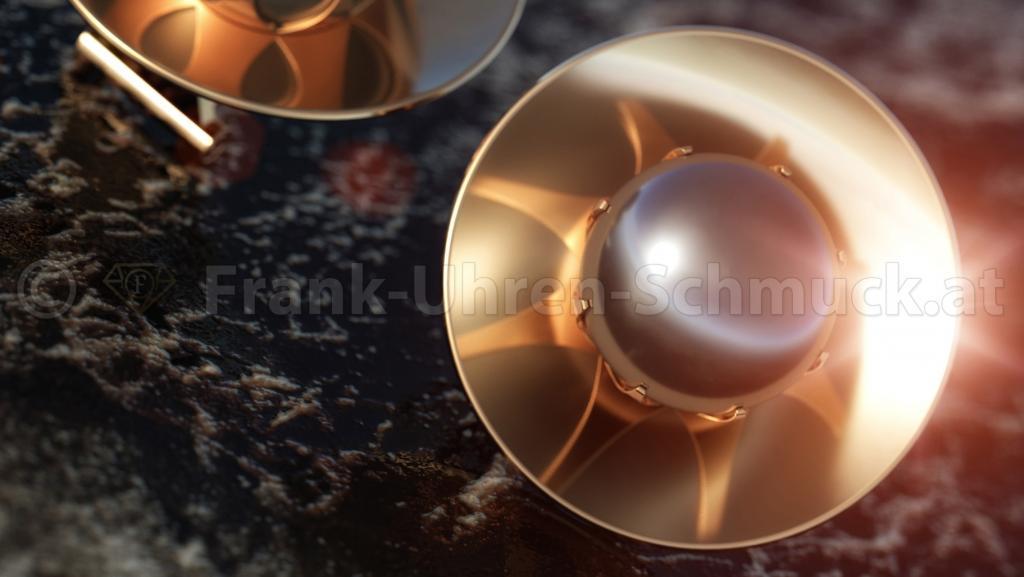 14K Designerohrclipse mit Tahitiperle